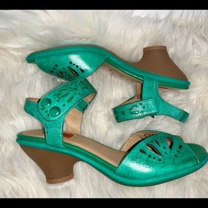 Miz Mooz Cortlyn Jade leather sandal
